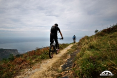 Mountain-bike-near-San-Sebastian,-Basque-Country