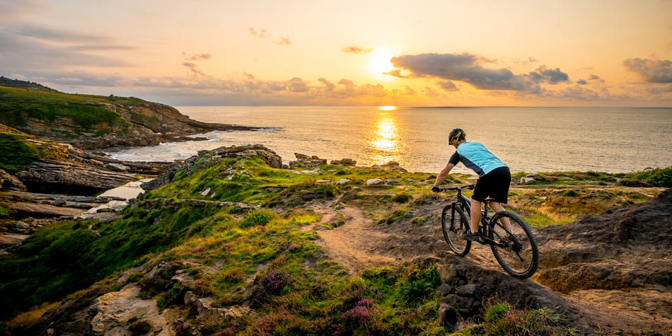 Mountain biking in the spanish north coast