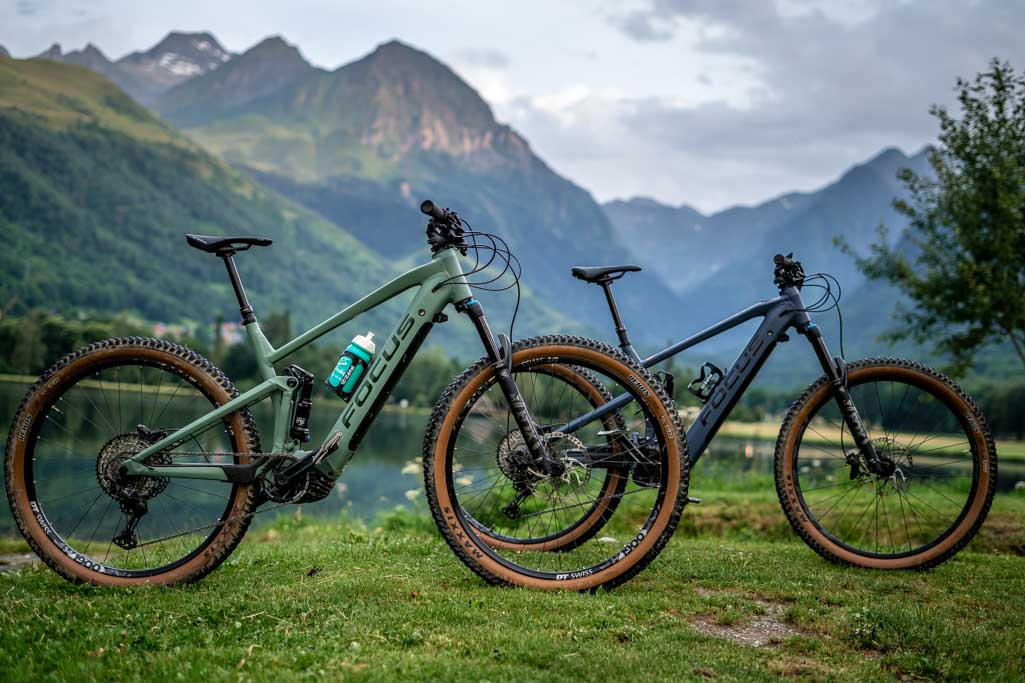 Focus Thron and focus Jam2 electric mountain bikes