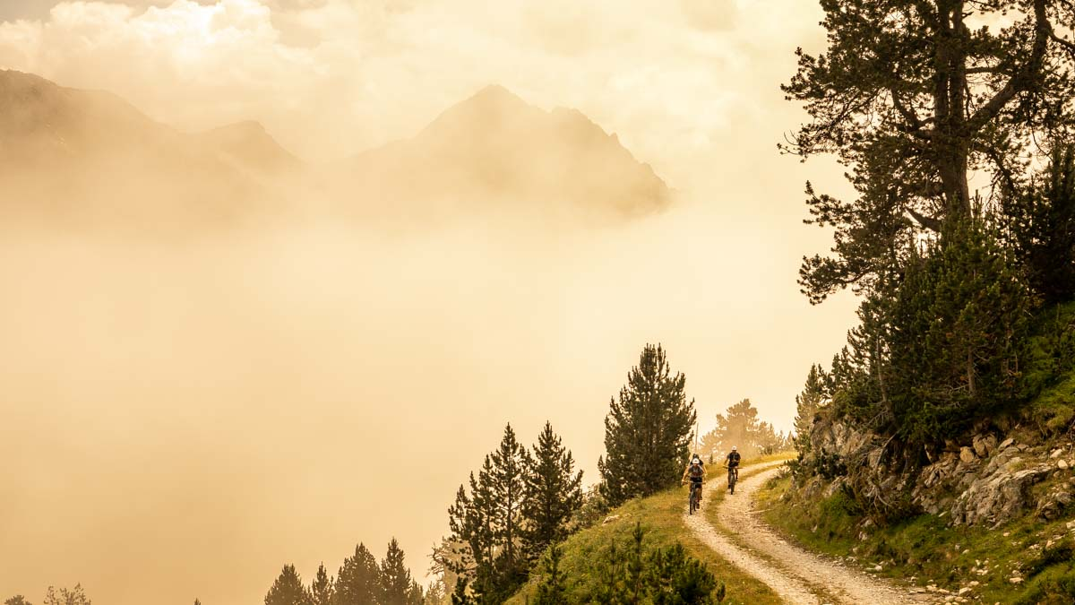 Mountain biking with amazing views of the Pyrenees